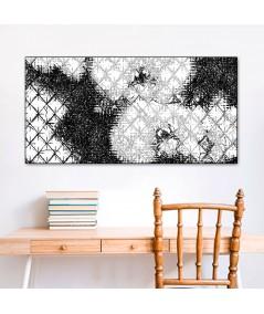 Obraz na płótnie Obraz na ścianę Romby i storczyki czarno białe