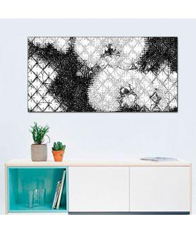 Romby i storczyki czarno białe obraz plakat