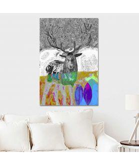 Obraz plakat dekoracyjny Las jelenia