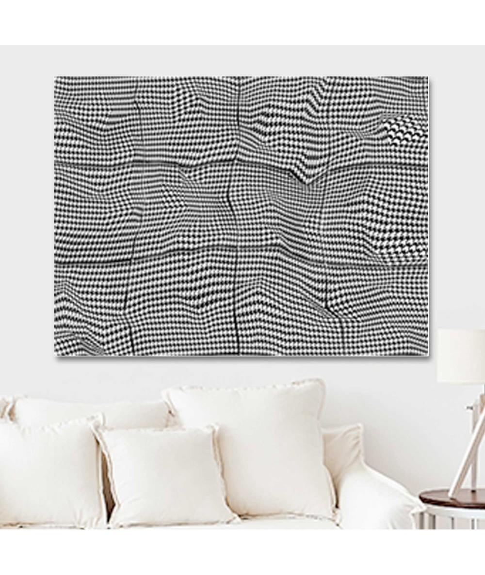 Obrazy 3d - Obrazy op art czarno białe Pepitka paper