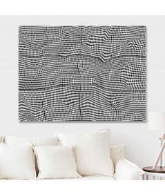 Obraz na płótnie Obrazy op art czarno białe Pepitka paper