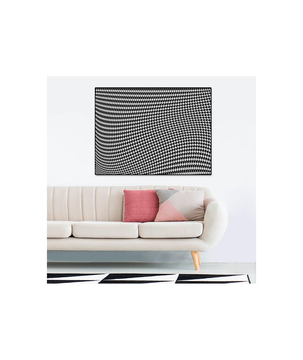 Obrazy 3d - Obraz 3d czarno biały Pepitka drag (1-częściowy) szeroki