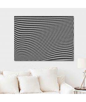 Obraz na płótnie Obraz 3d czarno biały Pepitka drag (1-częściowy) szeroki