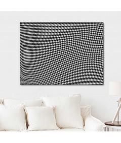 Obraz na płótnie Obraz 3d czarno biały Pepitka drag
