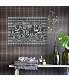 Obraz na płótnie Obraz czarno biały 3d Pepitka flow
