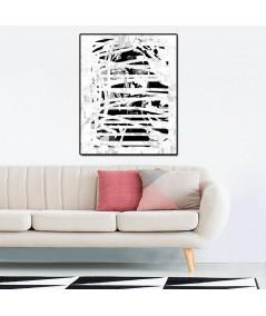 Nowoczesna grafika czarno biała, minimalizm, obraz do salonu