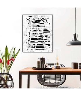 Grafika w stylu modern, czarno biały portret, obraz na płótnie