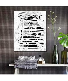 Grafika czarno biała na ścianę, nowoczesny portret, grafikiobrazy.pl