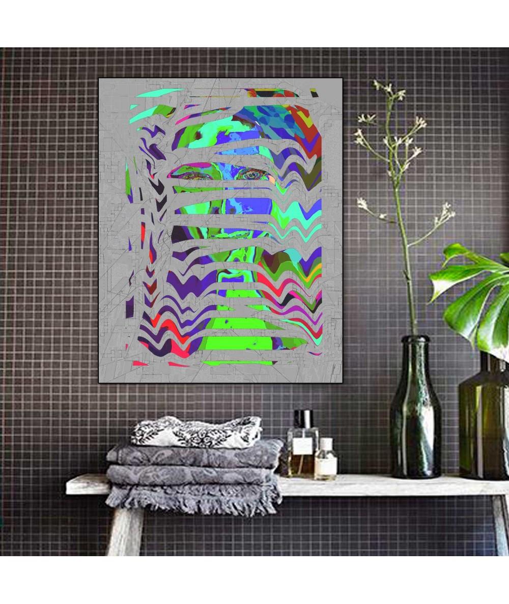 Obrazy abstrakcyjne - Obraz na ścianę Face (1-częściowy) pionowy