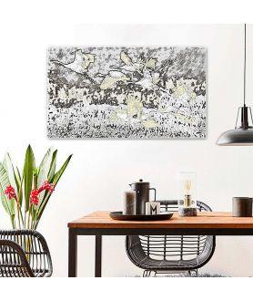 Nowoczesne obrazy na ścianę Żurawie grafika