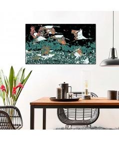 Obrazy z ptakami Żurawie w nocy, obrazy do sypialni