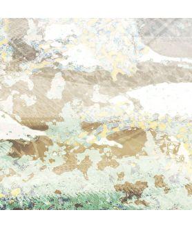 Obraz plakat dekoracyjny Złote żurawie