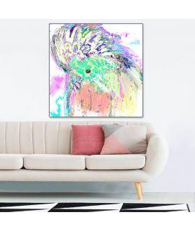 Obraz na płótnie Obraz z papugą Papuga art