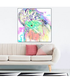 Papuga art obraz plakat