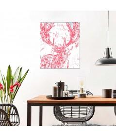 Artystyczna grafika drukowana Rogi jelenia