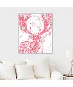 Obraz plakat dekoracyjny Grafika jeleń Rogi jelenia