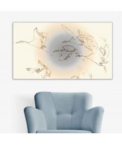 Obrazy zwierząt - Jasny obraz na ścianę ptaki Żurawie w locie