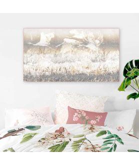 Obraz plakat dekoracyjny Żurawie lecące