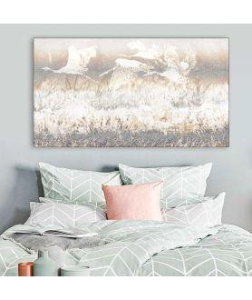 Obrazy zwierząt - Ptaki w locie obraz canvas Żurawie lecące