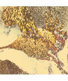 Obraz na płótnie Grafika drukowana Żurawie orientalne (1-częściowy) szeroki