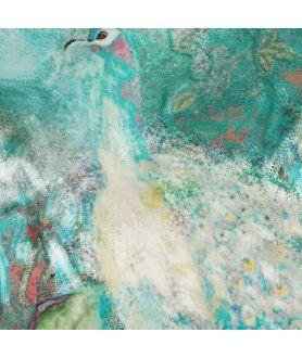Obraz na płótnie Obrazy zwierząt Paw w ogrodzie