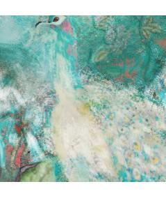 Obraz na płótnie Obrazy zwierząt Paw w ogrodzie, styl glamour
