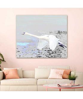 Obraz Lot łabędzia (1-częściowy) szeroki