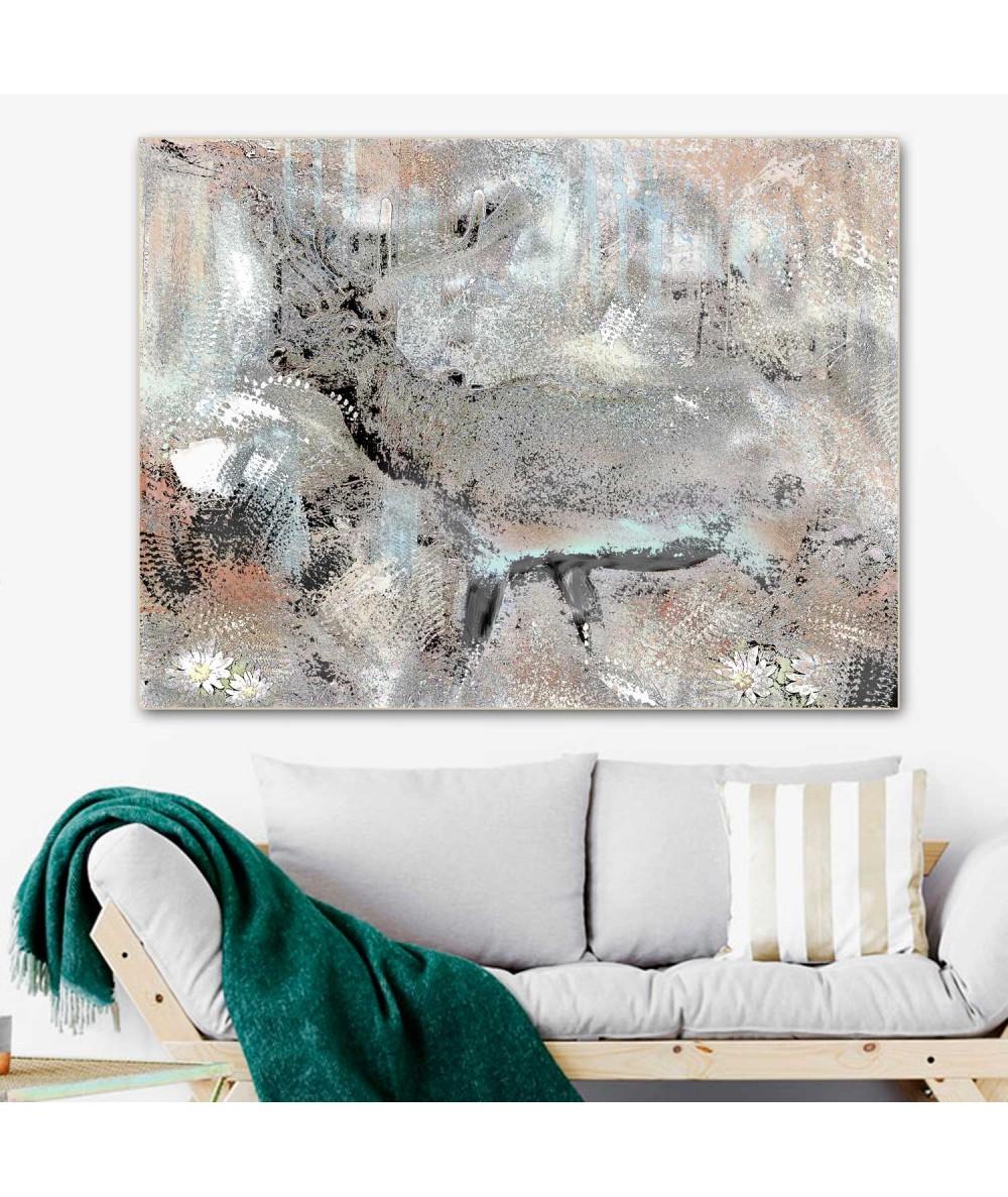 Obrazy zwierząt - Obraz canvas Jeleń (1-częściowy) szeroki