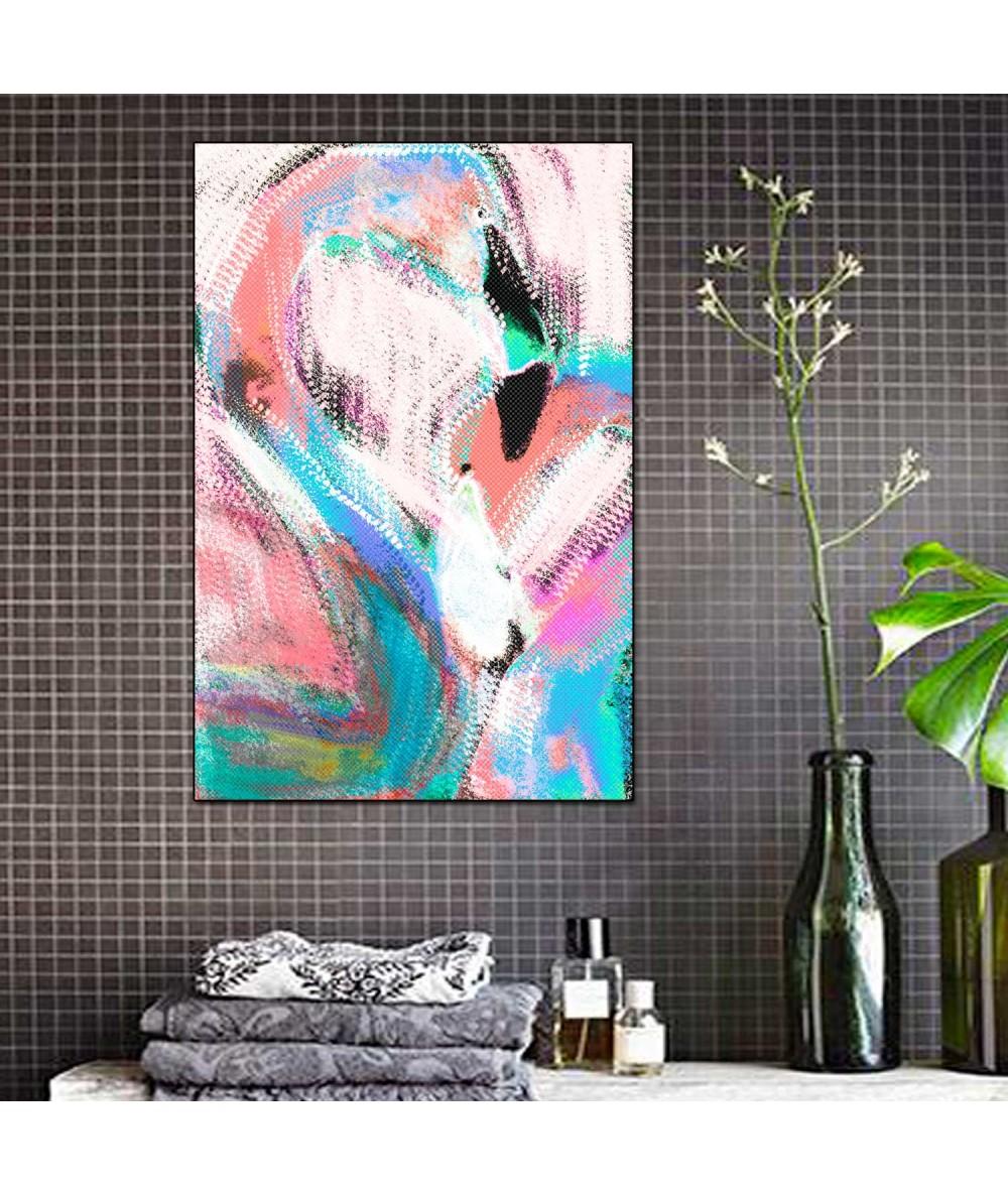 Kolorowy obrazek na ścianę Flamingi