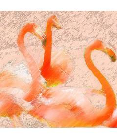 Obraz na płótnie Nowoczesna grafika na ścianę Flamingi w słońcu