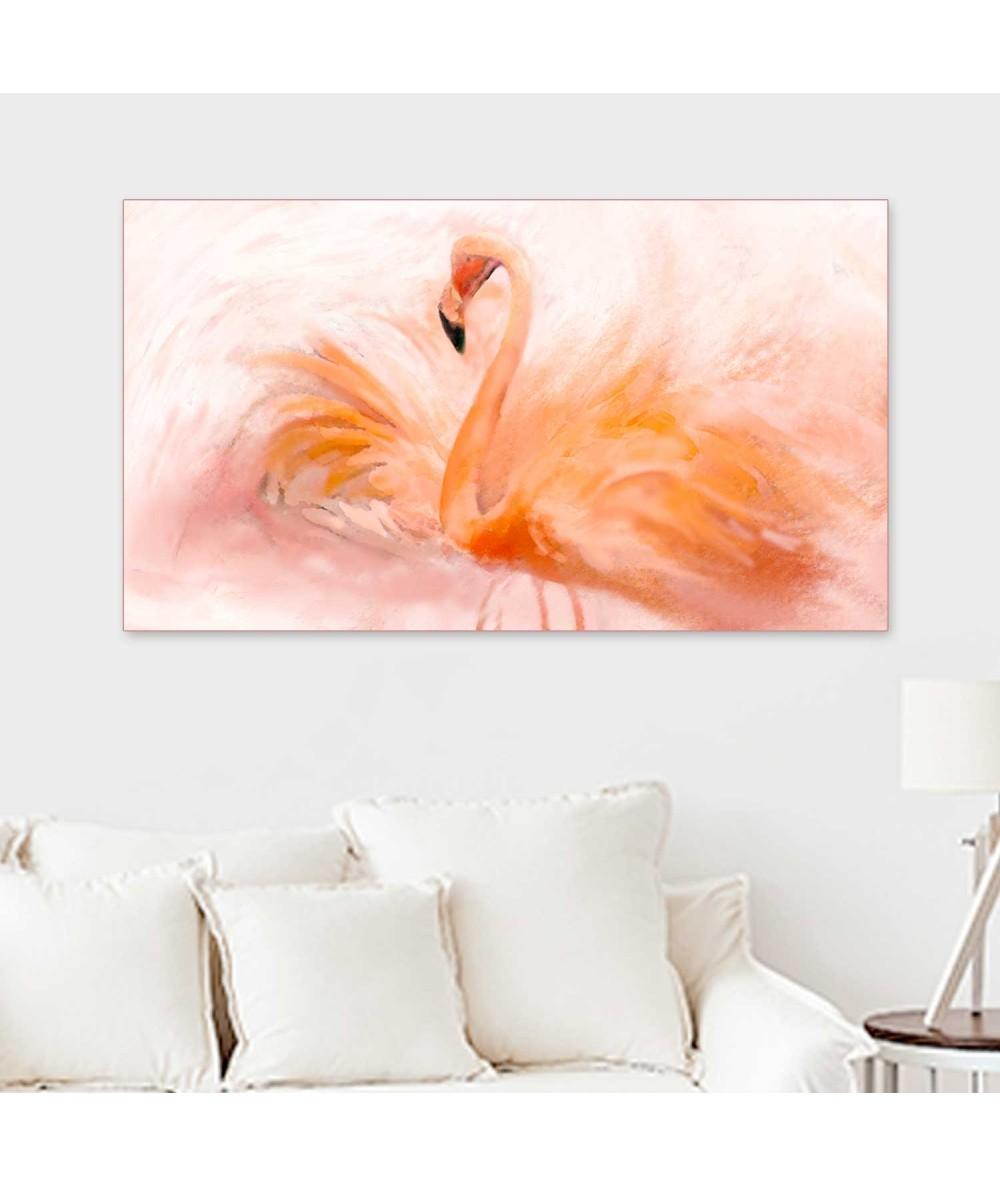 Obraz zwierzak na ścianę Flaming akwarela