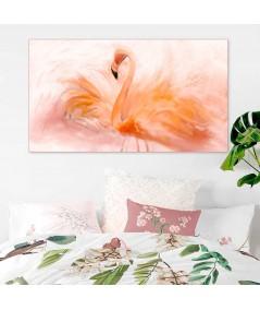 Obrazy zwierząt Flaming akwarela obraz plakat