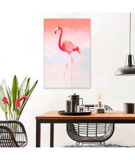 Dekoracyjny obraz na ścianę, flaming, grafika cyfrowa drukowana, pastelowe obrazy, grafikiobrazy.pl