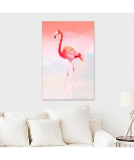 Obraz flaming drukowany na płótnie, radosny obraz do salonu, modny motyw, design, grafikiobrazy.pl
