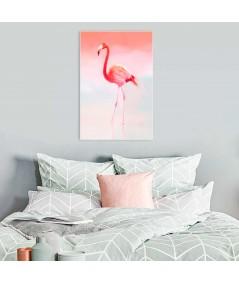 Obrazy do sypialni zwierzęta, Flaming różowy, grafika obraz drukowana na płótnie, grafikiobrazy.pl