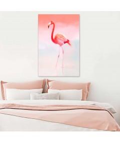 Nowoczesny obraz do sypialni, flaming koralowy, obraz koralowy, grafika drukowana na płótnie
