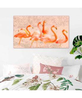Obraz plakat dekoracyjny Flamingi w słońcu