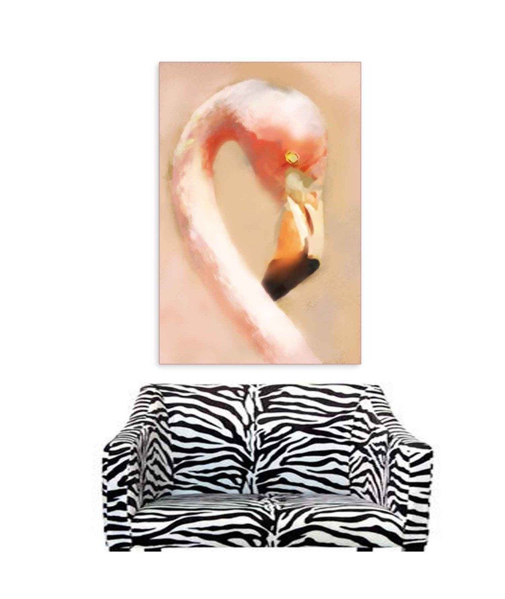 Obrazy zwierząt - Obraz z flamingiem na ścianę Flaming portret