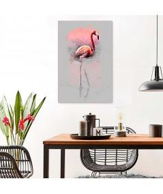 Obraz na płótnie Obraz flaming na ścianę Flaming spacer