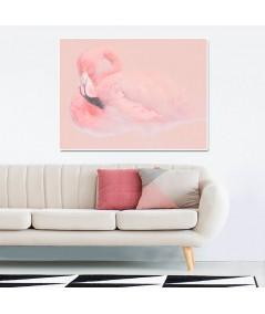 Obraz na płótnie Obraz drukowany z flamingiem Flaming w pasteli