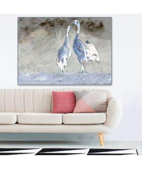 Obraz industrialny Żurawie niebieskie