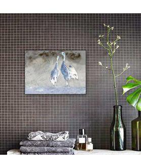 Obraz na płótnie Obraz industrialny Żurawie niebieskie