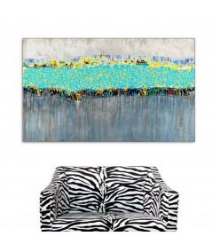 Obraz nowoczesny Wesoła rzeka (1-częściowy) szeroki