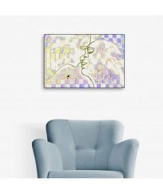 Dekoracja ścienna obraz Miłosne szachy (1-częściowy) szeroki