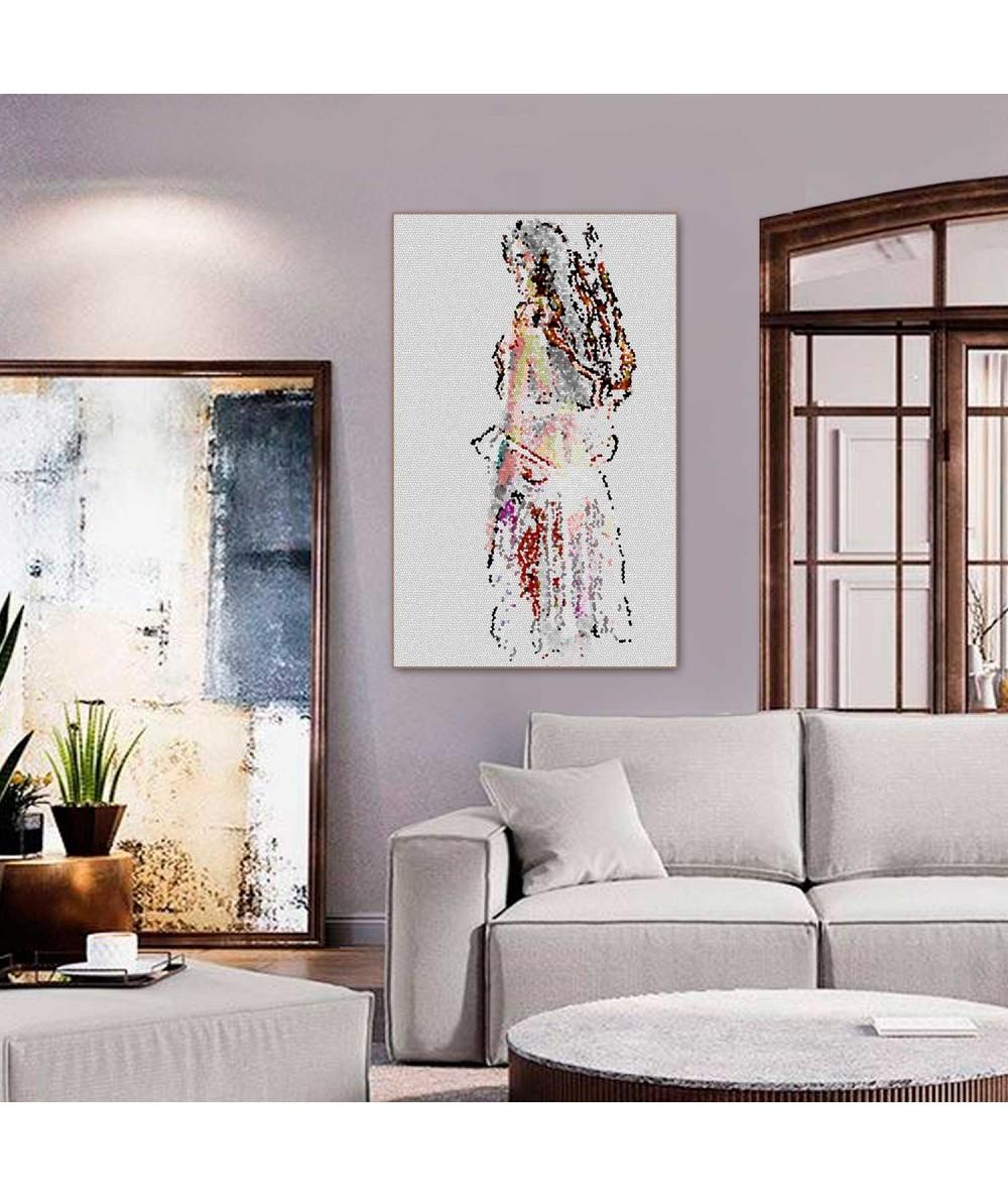 Obrazy kobieta - Naga kobieta obraz Mozaikowa dziewczyna
