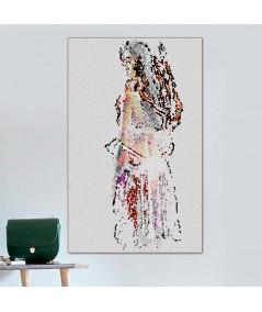Naga kobieta obraz Mozaikowa dziewczyna