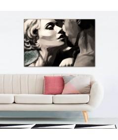 Obraz na płótnie Namiętny pocałunek, styl romantyczny