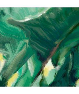 Obraz zielone liście Cienie i liście