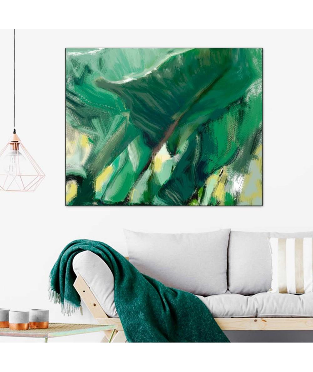Obrazy natura - Obraz zielone liście Cienie i liście