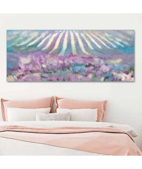 Obrazy do sypialni Pole lawendy panorama